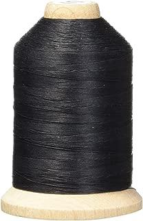 YLI 21100-BLK 3-Ply T-40 Cotton Hand Quilting Thread, 1000 yd, Black