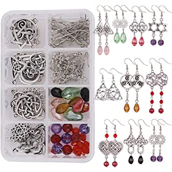 Jewelry Craft Earrings Making Kit DIY Findings Cord Thread Clasps