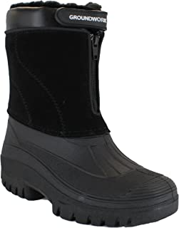 01b8f824f Groundwork LS88 Womens Mucker Stable Yard Winter Snow Zip up Boots Wellies