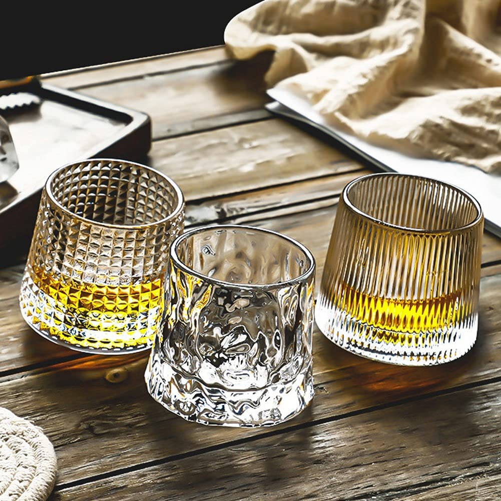Whiskey Glasses Large special price !! Set of 3 URMAGIC Fashioned Stripe Design Old Gla Max 68% OFF