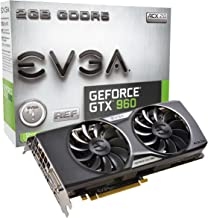 EVGA GeForce GTX 960 2GB GAMING ACX 2.0+, Whisper Silent Cooling Graphics Card 02G-P4-2963-KR