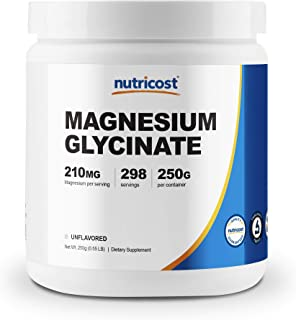 Sponsored Ad - Nutricost Magnesium Glycinate Powder (250 Grams) (Unflavored)