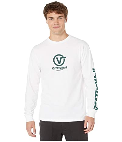 Vans Distorted Performance Long Sleeve T-Shirt (White) Men