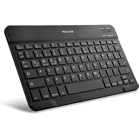 Realike Bluetooth Tastatur Qwertz Deutsches Layout Computer Zubehör