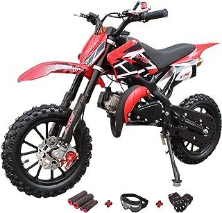 X-Pro 50cc Dirt Bike Gas Dirt Bike Kids Dirt Bikes Pit Bikes Youth Dirt Pitbike 50cc Mini Dirt Bike with Gloves, Goggle and Handgrip
