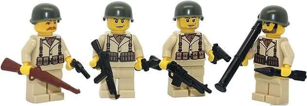 Modern Brick Warfare US Army American WW2 Soldiers Squad Custom Minifigure