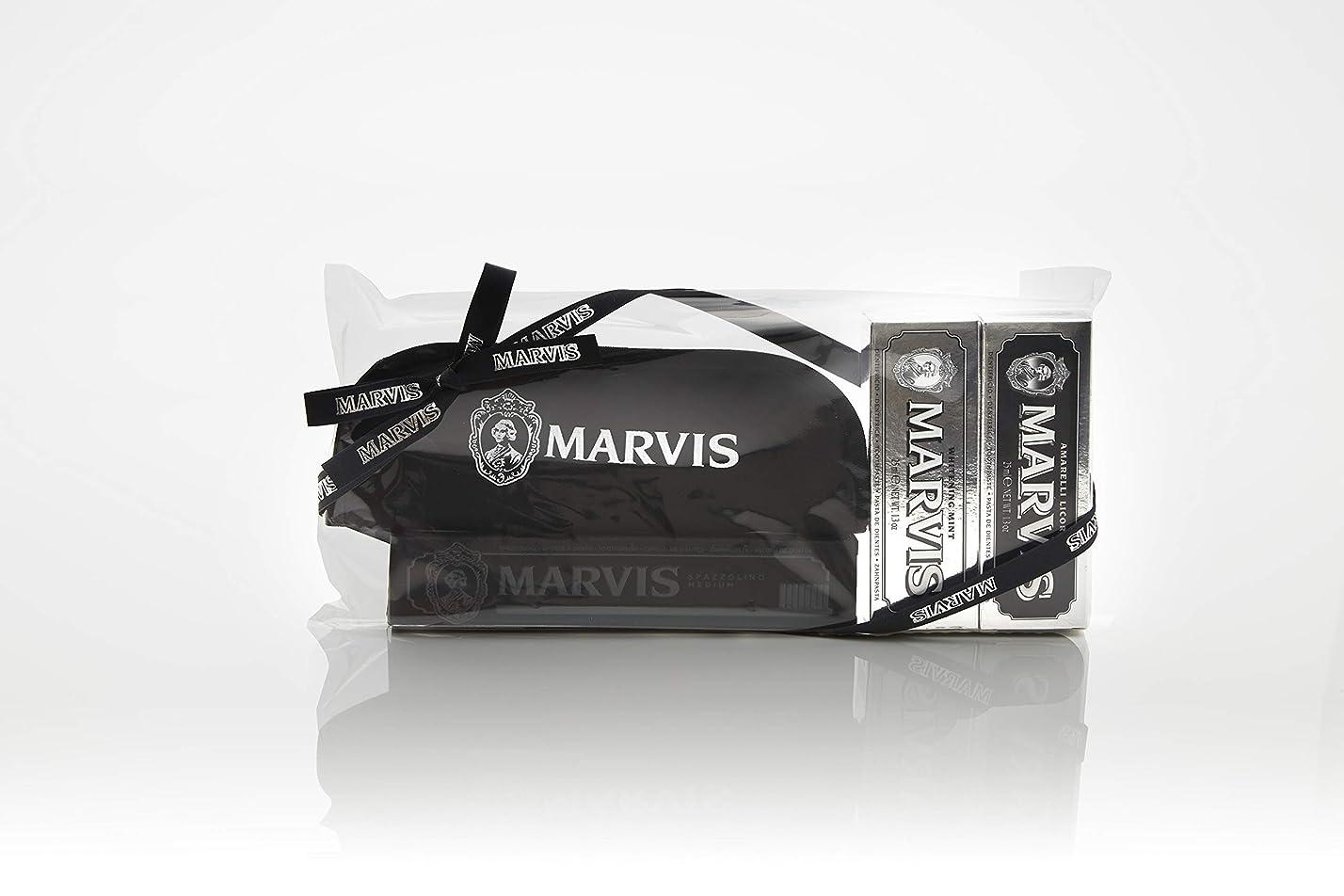 鳩エレガント民族主義MARVIS(マービス) トラベル?セットDouble Flavors (歯みがき粉?歯ブラシ?ポー