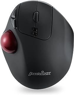 ぺリックス PERIMICE-717D トラックボール付 カスタマイズ可能 無線 エルゴノミクス マウス 7ボタン DPI 400/1000【正規保証品】