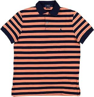 Mens Custom Slim Fit Mesh Striped Polo Shirt