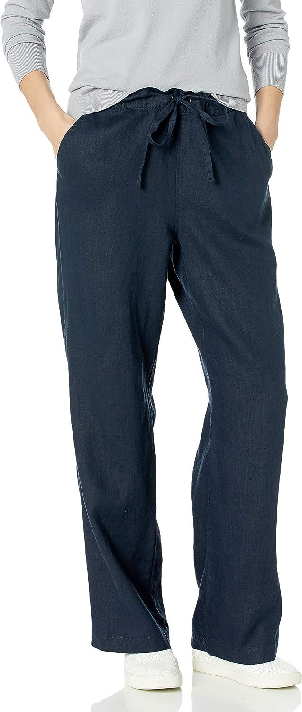Vince Camuto Women's Drawstring Wide Leg Linen Pant