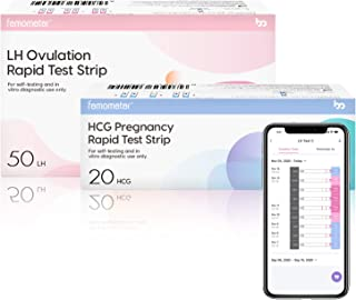 Femometer 50 Ovulation Test Strips and 20 Pregnancy Test Strips Combo kit, Sensitive Fertility Predictor Testing Kits with Accurate Results, 70 PCS