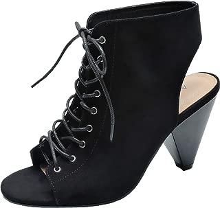 Women's Wide Width Ankle Boots, Block Low Heel Slip On Side Zipper Booties Cozy Comfortable Work Shoes.