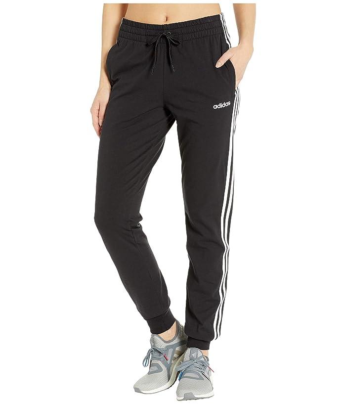 adidas Essential 3-Stripes Jogger (Black/White) Women