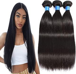INNATE COLLECTION CHARIS 100% Virgin Human Hair Bundles Straight Unprocessed Brazilian Remy Hair Weave Bundles Natural Black (26