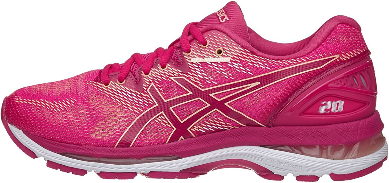ASICS Women's Gel Nimbus 20 Running shoes, Black White Carbon, 12 Medium US