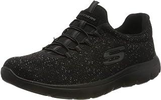 Skechers Lovely Sky Side-Logo Bungee-Lace Slip-On Patterned Training Sneakers for Women