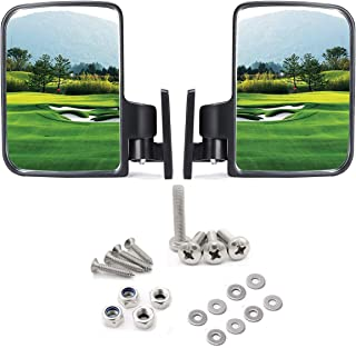 Red Hawk Golf cart Side Mirrors for Club Car EZ-GO Yamaha and Others