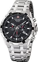 Swiss Alpine Military by Grovana Hombre Reloj Chrono 10ATM Black 7043.9137sam