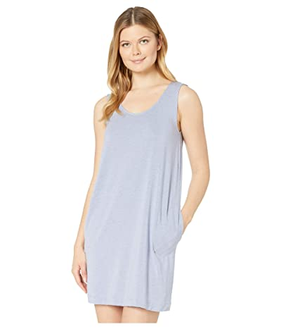 Hanro Natural Elegance Tank Gown (Light Viola Melange) Women