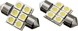 Delta Lights (03-1820-50) Festoon Cone Type - Brite White LED for Dome or License Plate - 22mm
