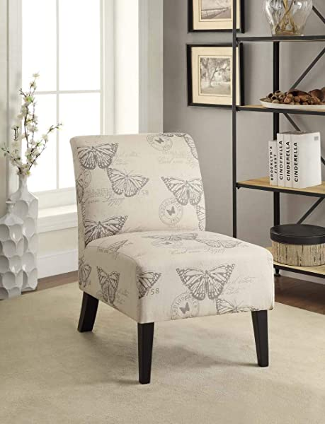 Linen Lily Chair Butterfly