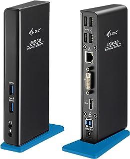 i-tec Docking Station USB 3.0 1x HDMI 1x DVI-I 1x GLAN Ethernet 2X USB-A 3.0 Incl. 1x Carga Rápida 4X USB 2.0 1x USB-B 3.0...