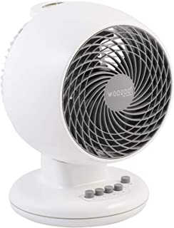 Iris Ohyama - Ventilateur puissant et silencieux avec oscillation - Woozoo PCF-M18 Blanc - 23 m², 25 x 22,8 x 33,5 cm 530398