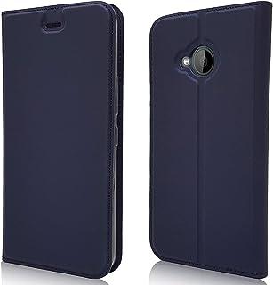 جراب لهاتف HTC U11 Life Case، جراب ومحفظة من الجلد الصناعي الكلاسيكي من Jaorty بغطاء قلاب رفيع مع فتحات لبطاقة الائتمان، و...