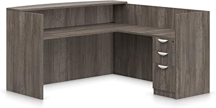 Offices To Go L Shaped Reception Desk W/Drawers W/Transaction Top 71