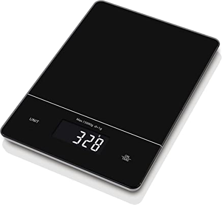 Digital Kitchen Scale LCD Display Precise Cooking and Baking Scale, Multifunction Tare Function 1g to 15Kg