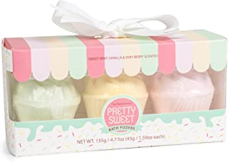 Pretty Sweet Set of 3 Assorted 45g Cupcake Shaped Bath Fizzers