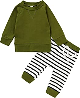 Infant Newborn Baby Girl Boys Fall Outfit Long Sleeve...