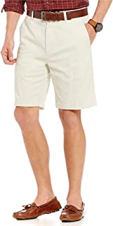 "Roundtree & Yorke Flat Front 9"" Inseam Washed Cotton Shorts"