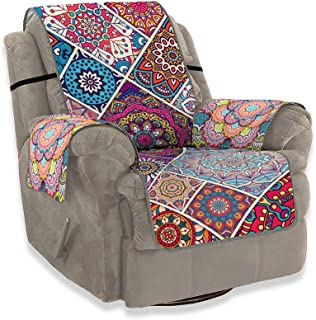 Muuyi Sofa Covers for Living Room, Seat Sofa, Slipcovers, Chair, Machine Washable, Slip Cover Throw for Pets (Friend), Dogs, Cat, Kids, Anti-Slip Furniture Protector with 3D Printing - Bohemian Style