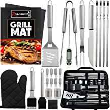 ROMANTICIST 26PCS Complete Barbecue Tool Set with Oxford Storage Case - Portable Grilling Tool Kit - Food Grade Professional BBQ Utensil Tool Kit for Outdoor Cooking and Camping Grilling