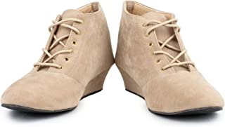 BONZER Stylish & Fashionable Suede Ankle Boot's for Women
