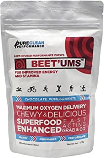 BEET`UMS - Great-Tasting Performance Chews - Get Your Beets on The go - Superfood - Nitric Oxide Supplement - Supports Stamina, Energy & Performance, Replace or Combine with Beet Root Powder