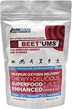 BEET Ums-Beet Powered Performance Chews Endurance Supplement Delicious Chocolate Fudge Convenient Grab and Go Supports Stamina Energy and Performance Replace or Combine Use with Beet Root Powder Estimated Price : £ 30,95