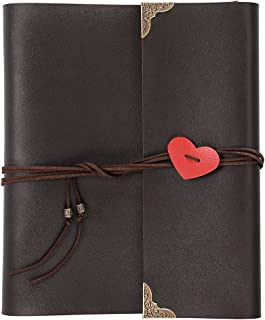 OwnMy DIY Photo Album Scrapbook PU Leather Adventure Photo Book with Corner Stickers Gifted Box - Perfect Baby Memory Book Birthday Wedding Anniversary Christmas Gift (30 Black Cards - 8 x 10 inch)
