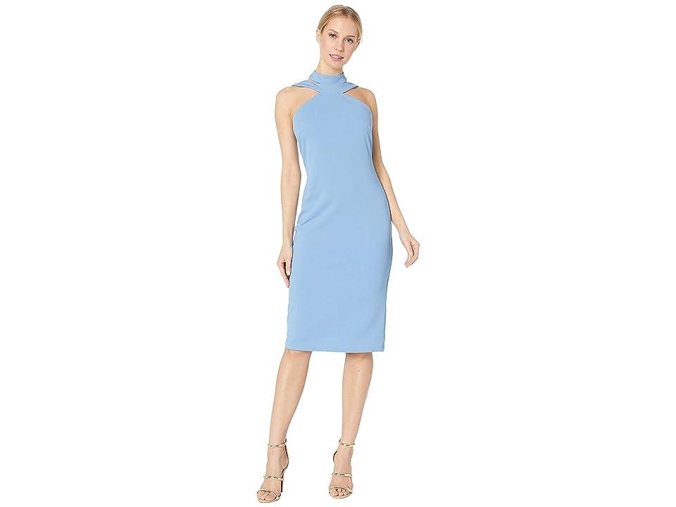 Bebe Bodycon Halter Dress (Light Blue) Women