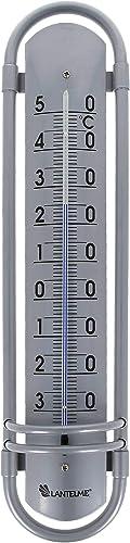 Lantelme Thermomètre extérieur analogique en aluminium 38 cm 8018