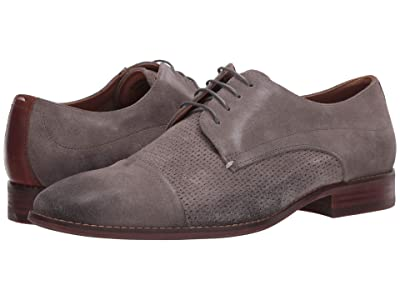Steve Madden Desmond Oxford (Grey Leather) Men