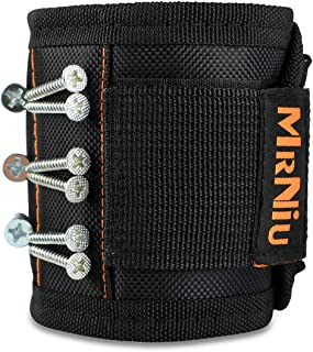 Magnetic Wristband with Strong Magnets for Holding Screws, Nails, Drill Bits - Best Unique Christmas Gift for Men, DIY Handyman, Father/Dad, Husband, Boyfriend, Him, Women (1 Pack)