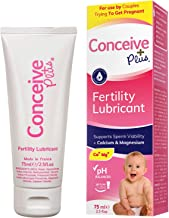 Conceive Plus Fertility Lubricant + Magnesium and Calcium, Conception Safe Lube For Couples Trying To Get Pregnant, 75ml M...