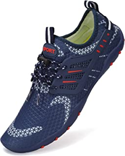 Water Shoes Mens Womens Quick Dry Sports Aqua Shoes Unisex Swim Shoes with 14 Drainage Holes for Swim,Walking,Yoga,Lake,Be...
