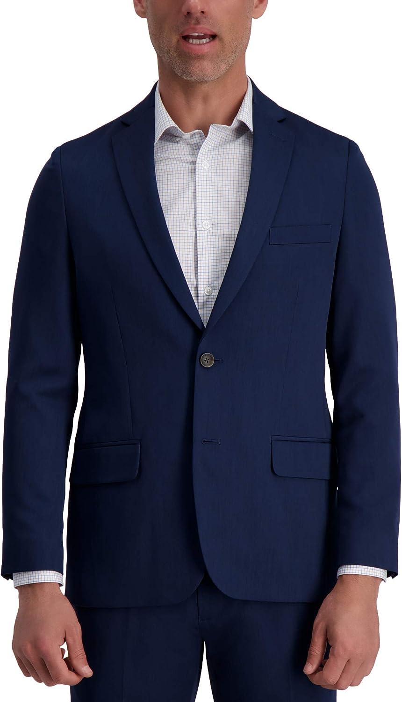 Louis Raphael Men's 2B SV Slim Fit Jacket, Blue, 38R