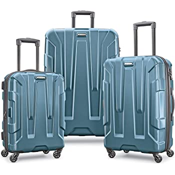 Samsonite Centric Hardside Expandable Luggage with Spinner Wheels, Teal, 3-Piece Set (20/24/28)
