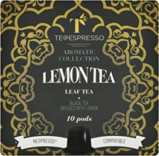 Teespressa Lemon Tea from Italy , Sweet Flavor Of Lemon , Delicious Intense Flavor , Refreshing Lemon Taste - (10 Capsules)