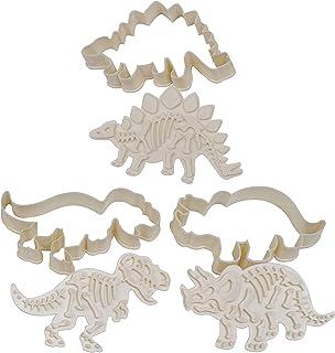 Dinosaurios Cortador de Galletas Conjunto - 3 Piezas Acrilico Moldes Galletas con Cortadores de Repostería -