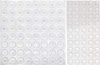Furniture Pads, Abinet Bumper pad, WaterLuu Cabinet Door Bumpers, Clear Adhesive Rubber Bumper Pads, 9.5mm x 3.8mm-50 Packs + 12.7 x 3.5 mm-64 Pack– 114 Packs Totally